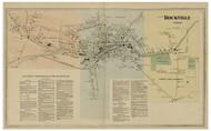 Rockville Village - Vernon, Connecticut 1869 Tolland Co. - Old Map Reprint