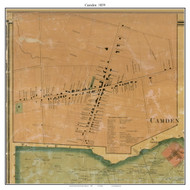 Camden Village, Delaware 1859 Old Town Map Custom Print - Kent Co.