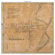 Frederica Village, Delaware 1859 Old Town Map Custom Print - Kent Co.
