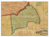Milford, Delaware 1859 Old Town Map Custom Print - Kent Co.