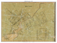 Milford Downtown, Delaware 1859 Old Town Map Custom Print - Kent Co.