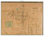 Smyrna and Willow Grove Villages, Delaware 1859 Old Town Map Custom Print - Kent Co.