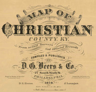 Title of Source Map - Christian Co., Kentucky 1878 - NOT FOR SALE - Christian Co.