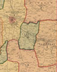 Caskey, Kentucky 1878 Old Town Map Custom Print - Christian Co.