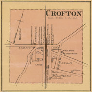 Crofton - Scates Mill, Kentucky 1878 Old Town Map Custom Print - Christian Co.