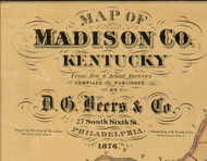 Title of Source Map - Madison Co., Kentucky 1876 - NOT FOR SALE - Madison Co.