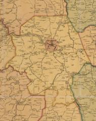 Richmond, Kentucky 1876 Old Town Map Custom Print - Madison Co.