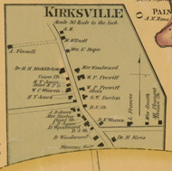 Kirksville Village, Kentucky 1876 Old Town Map Custom Print - Madison Co.