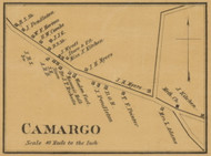 Camargo Village, Kentucky 1879 Old Town Map Custom Print - Montgomery Co.