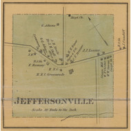Jeffersonville Village, Kentucky 1879 Old Town Map Custom Print - Montgomery Co.