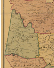 Hadley, Kentucky 1877 Old Town Map Custom Print - Warren Co.