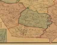 Woodburn, Kentucky 1877 Old Town Map Custom Print - Warren Co.