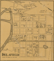 Delafield - Bowling Green, Kentucky 1877 Old Town Map Custom Print - Warren Co.