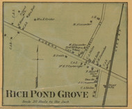 Rich Pond Grove - Rich Pond, Kentucky 1877 Old Town Map Custom Print - Warren Co.