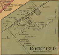 Rockfield Village, Kentucky 1877 Old Town Map Custom Print - Warren Co.