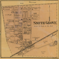 Smith Grove Village, Kentucky 1877 Old Town Map Custom Print - Warren Co.