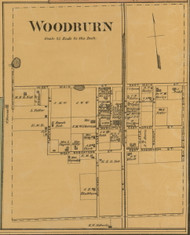 Woodburn Village, Kentucky 1877 Old Town Map Custom Print - Warren Co.
