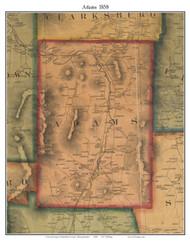 Adams, Massachusetts 1858 Old Town Map Custom Print - Berkshire Co.
