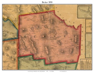 Becket, Massachusetts 1858 Old Town Map Custom Print - Berkshire Co.
