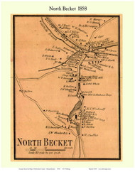 North Becket, Massachusetts 1858 Old Town Map Custom Print - Berkshire Co.