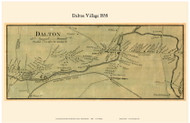 Dalton Village, Massachusetts 1858 Old Town Map Custom Print - Berkshire Co.