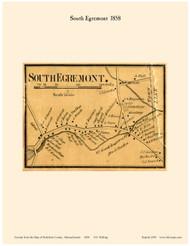 South Egremont Village, Massachusetts 1858 Old Town Map Custom Print - Berkshire Co.