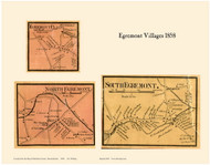 North Egremont, South Egremont and Egremont Plain Villages, Massachusetts 1858 Old Town Map Custom Print - Berkshire Co.