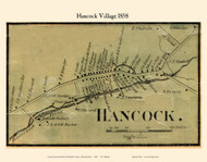 Hancock Village, Massachusetts 1858 Old Town Map Custom Print - Berkshire Co.