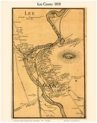 Lee Center Village, Massachusetts 1858 Old Town Map Custom Print - Berkshire Co.