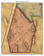 Mount Washington, Massachusetts 1858 Old Town Map Custom Print - Berkshire Co.