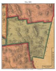 Otis, Massachusetts 1858 Old Town Map Custom Print - Berkshire Co.