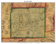 Pittsfield, Massachusetts 1858 Old Town Map Custom Print - Berkshire Co.