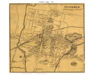 Pittsfield Village, Massachusetts 1858 Old Town Map Custom Print - Berkshire Co.