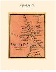 Ashley Falls Village, Massachusetts 1858 Old Town Map Custom Print - Berkshire Co.