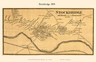 Stockbridge Village, Massachusetts 1858 Old Town Map Custom Print - Berkshire Co.