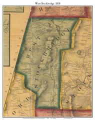 West Stockbridge, Massachusetts 1858 Old Town Map Custom Print - Berkshire Co.