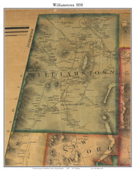 Williamstown, Massachusetts 1858 Old Town Map Custom Print - Berkshire Co.