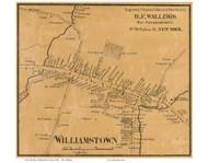 Williamstown Village, Massachusetts 1858 Old Town Map Custom Print - Berkshire Co.