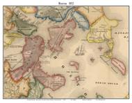 Boston, Massachusetts 1852 Old Town Map Custom Print - Boston Vicinity