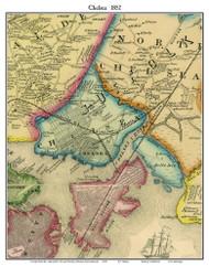 Chelsea, Massachusetts 1852 Old Town Map Custom Print - Boston Vicinity