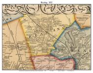 Reading, Massachusetts 1852 Old Town Map Custom Print - Boston Vicinity