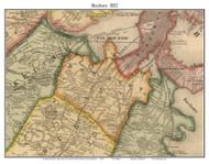 Roxbury, Massachusetts 1852 Old Town Map Custom Print - Boston Vicinity