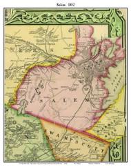 Salem, Massachusetts 1852 Old Town Map Custom Print - Boston Vicinity