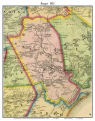 Saugus, Massachusetts 1852 Old Town Map Custom Print - Boston Vicinity