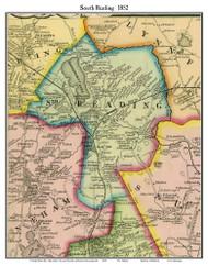 South Reading, Massachusetts 1852 Old Town Map Custom Print - Boston Vicinity