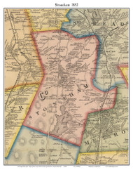 Stoneham, Massachusetts 1852 Old Town Map Custom Print - Boston Vicinity