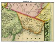 Swampscott, Massachusetts 1852 Old Town Map Custom Print - Boston Vicinity