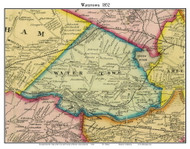 Watertown, Massachusetts 1852 Old Town Map Custom Print - Boston Vicinity