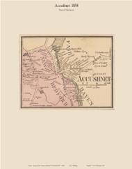 Accushnet Village, Massachusetts 1858 Old Town Map Custom Print - Bristol Co.
