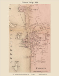Fairhaven Village, Massachusetts 1858 Old Town Map Custom Print - Bristol Co.
